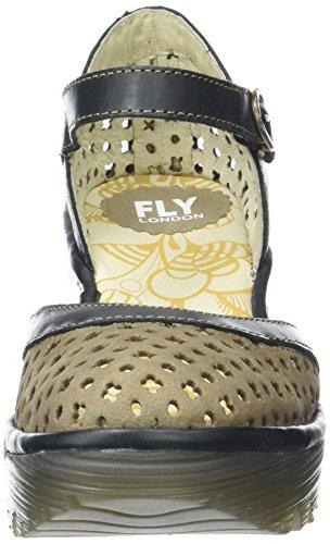 FLY London Damen Yadu732fly Wedge Grün (khaki/black 001)
