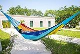 MacaMex Hängemattengestell, Mexikanische Netzhängematte Mehrpersonen Hängematte 3 Personen 250 kg, 410 x 250 x 150 cm, paradiso - 5