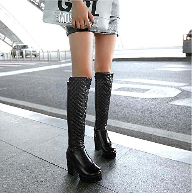 AGECC - Stivali da Neve Neve Neve da Donna, Comodi e durevoli, con Tacco Alto, Coloreee  Bianco, 36 nero | Trasporto Veloce  | Uomini/Donna Scarpa  d5b3c5