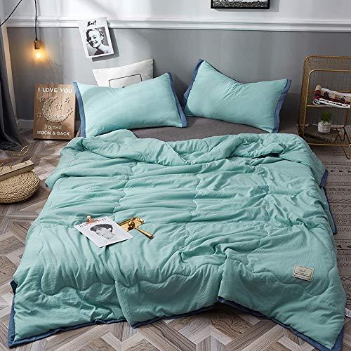 KAMIER Heimtextilien schwarz geometrische Bettwäsche Bettwäsche Heimtextilien Bettbezug Seitenbettwäsche Moderne Bettwäsche Kissenbezug Queen-Size-Bett hellgrün 200 * 230cm