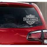 Sticker autocollant bébé à bord style logo H.Davidson