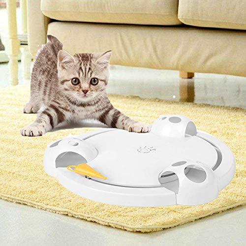 KOBWA Katzespielzeug, Katze wechselwirkendes Spielzeug, die Maus fängt elektrisches Spielzeug justierbares batteriebetriebenes wechselwirkendes automatisches Spielzeug für Katze oder Kätzchen