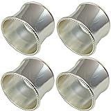 Serviettenring Berlin D 5 cm 4 er Set Silber Plated versilbert in Top Verarbeitung