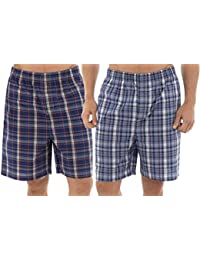 Tom Franks Twin Pack Carreaux Shorts Easycare Lounge