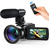 Videocamera Andoer videocamere digitale full HD 16X Zoom digitale...