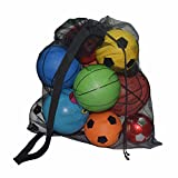 Eizur Große Balltasche für 15 Fußbälle Ballsack Ballnetz mit Schultergurt