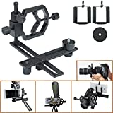 #4: Gosky Fully Metal Telescope Camera Adapter Smartphone Adapter Telescope Stand Holder Smartphone Connection Adapter - Works with Virtually Any Point-and-shoot Digital, SLR, and DSLR Cameras DSLR - for Telescope Binocular Monocular Microscope - 1.25 Inch and 2 Inch