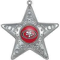 """San Francisco 49ers Christbaumkugel """"Silver Star"""" – Weihnachten - NFL Fanartikel - Weihnachtsschmuck"""