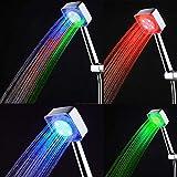 Badezimmer 7Farbe LED Duschkopf mit automatischem Farbwechsel