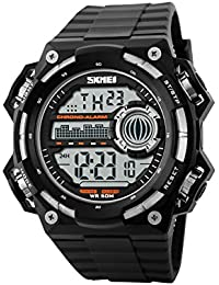 Naivo Men's Swiss Automatic Brass Plated Stainless Steel and Rubber, Color Black (Model: WATCH-1154)