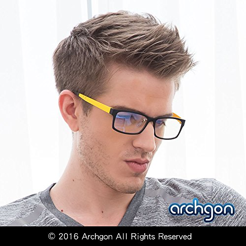 archgon-gl-b107-y-computer-eyewear-anti-blue-light-glasses-uv-protection-full-rim-frame-with-crystal