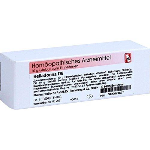 Belladonna D 6 Globuli 10 g