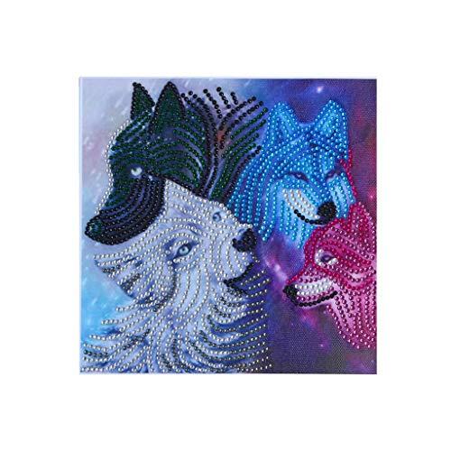 Sonnena DIY 5D Diamant Painting Voll,Stickerei Malerei Crystal Strass Stickerei Bilder Kunst Handwerk für Home Wand Decor Gemälde Kreuzstich Tier-Serie Hund, Kuh, Pferd -