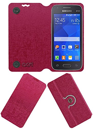 Acm Designer Rotating Flip Flap Case for Samsung Galaxy S Duos 3 Sm-G313hu Mobile Cover Pink  available at amazon for Rs.399