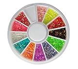JasCherry 3D Strass Decorazione d'Unghie Borchie Nail Arte Ruota Manicure a Modelli Diversi