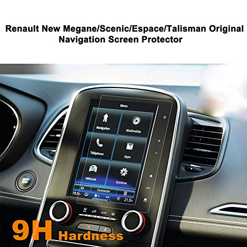 LFOTPP Navigation Protection d'écran pour Renault Nouvelle Megane/Nouveau Scenic/Espace/Talisman Système de Navigation Film Protection en Verre Trempé - 9H Anti-rayures