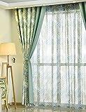 Vorhänge ZCJB Amerikanischen Stil Ende Produkt Erker Fenster Einfache Pastoralen Schlafzimmer Wohnzimmer Boden Bis Zur Decke Windows Blackout One Piece (Farbe : Hook Curtain, größe : W150*H270CM)