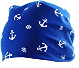 La Bortini Viereck Kopftuch Baby/Kinder Stirnband Mütze Bandana Kopfbedeckung zum Binden Dunkelblau
