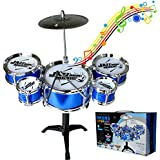 Mokylor Educational Children Toys Kids Musical Instrument Toy 5 Drums Simulation Jazz Drum Kit With Drumsticks Musical Toy - Random Color