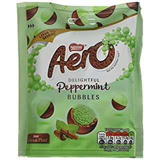 Nestle Aero Bubbles Peppermint Pouch, 102 g (Pack of 8)
