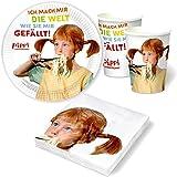 20 tlg. Set Einladungskarten - Pippi Langstrumpf - Kinder Mädchen ...