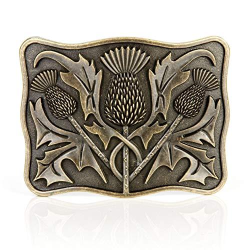 ish Celtic Thistle Brass Kilt Gürtelschnalle ()