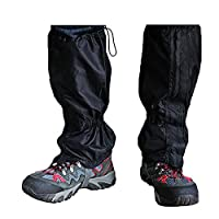 TRIXES 1 Pair Hiking Gaiters Waterproof Outdoor Walking Climbing Snow Legging Gaiter