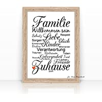 """""""FAMILIE"""" KUNSTDRUCK – Poster –"""