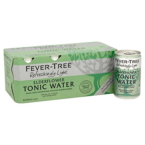 Fever Tree Refreshingly Light Elderflower Tonic Water, 8 x 150 ml