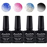 Annabelle Thermo Nagellack UV Nagellack Soak Off UV Gel Nagellack Nail Art Top Coat Base Coat 7.3ml (7.3ml/pc Lot de 4) 0804
