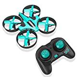 RCtown ELF Mini Drone 2,4 GHz 4CH Mini UFO Quadcopter Drone mit 6-Achsen-Gyro Headless Modus Fernbedienung Nano Quadcopter (Tiffanyblau)