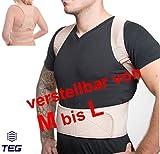 """MTEG533 - für T-Shirt Größe """"M bis L"""" - medizinisch orthopädischer Rückenstabilisator GERADEHALTER aus hochwertigem NEOPRENE - Rückenbandage - mit verstellbaren Trägern und 12 Magneten"""