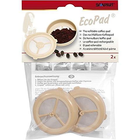 Ecopad - Das nachfüllbare Kaffeepad, 2er Set für Senseo Maschinen