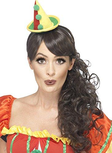 Smiffys, Unisex Niedlicher Clown Hut mit Bommeln, One Size, Bunt, (Niedliche Clown Outfits)