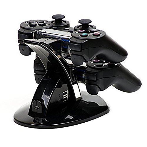 adestation Ladegerät Ständer Halterung Ladestation Docking-Station Dock für Sony Playstation 3 PS3 PLAYSTATION3 Controller Kontroller (Lego Harry Potter Sets 2017)