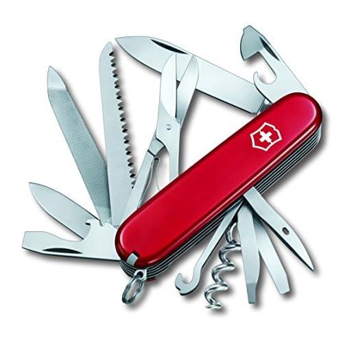 51r3LTYMeYL. SS500  - Victorinox Unisex's 1.3763.B1 Knife Blade, Blue Transparent (Blister), M