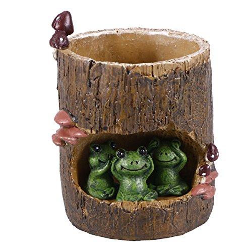 Green Frog Pot (Vosarea Creative Cute Green Frog Flower Sedum Succulent Pot Planter Bonsai Trough Box Plant Bed Office Home Garden Pot Decor)