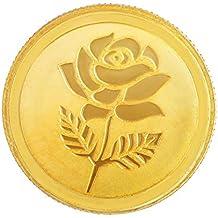 Malabar Gold and Diamonds 999 Purity 5 gms, 24k Rose Gold Coin (MGRS999P5G)
