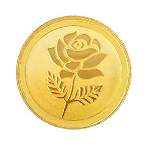 Malabar Gold and Diamonds 999 Purity 5 gms, 24k Rose Gold Coin (MGRS999P5G)