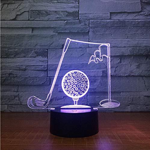 Golf 7 Farben Ändern Nacht Lampe Led Sport 3D Tischleuchte Für Kinder Schlaf Lampe Wohnkultur Kunst Dekor Für Papa Mann