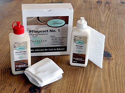 moebel-eins Proterra Holzpflegeset No. 1 für naturbelassene sowie lackierte Holzoberflächen
