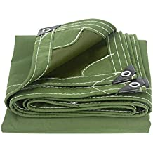 Hongyan Impermeabile, resistente, antistrappo, resistente all'acqua, impermeabile, resistente all'acqua, esterno, panno 650 g/m2, 2 colori (16 taglie) (Colore : Verde, dimensioni : 4x4m)