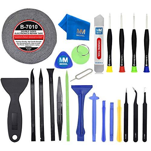 MMOBIEL 24 In 1 Reparatur Werkzeug Tool Kit für Smartphones und Feinmechanik inkl. Klebeband Schraubenzieher Set (Für Handy-bildschirm-reparatur-kit Lg)