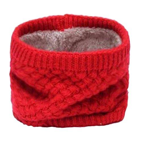 PinzhiKnit Fleece Halswärmer Gator Ski Winter Wärmer Gesicht Schal Maske(Rot ) (Stricken-gesicht-maske)