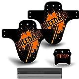 Defensa de bicicleta de NICEDACK, 2 guardabarros traseros y 1 delantero, para bicicleta de MTB o de BMX, naranja