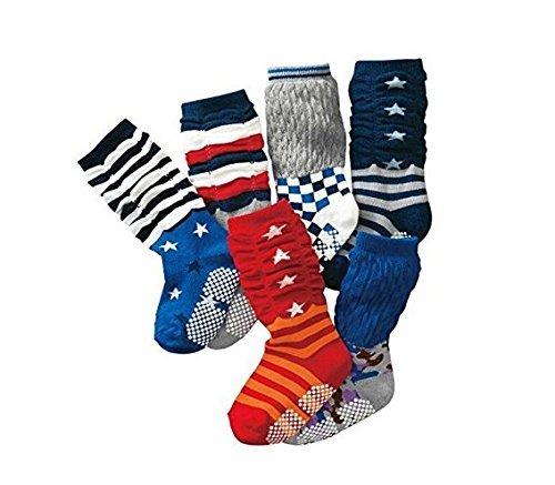 B&S FEEL Assorted Children Kids Socks Loose Socks High Socks for Little Boys Aged 1 - 4 Years Old, 6 pairs by B&S FEEL