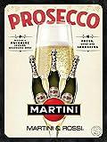Toddrick Cartello in Latta per Bambini e Prosecco Martini, Stile Vintage, per Cucina, Bar, Pub, caffè, Decorazione 20,3 x 30,5 cm