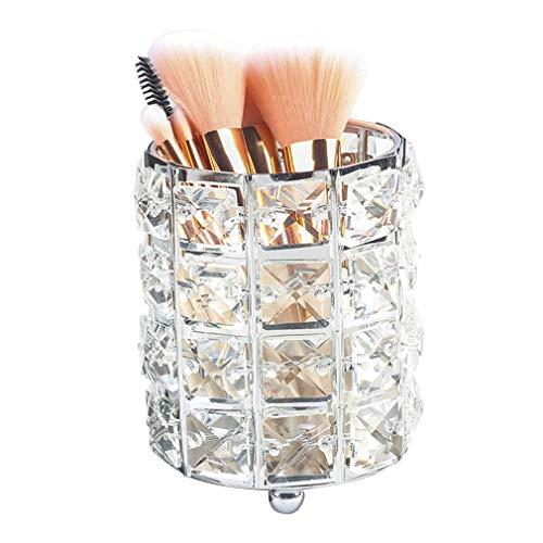 Support de Boîte de Stockage de Cosmétiques Organisateur de Maquillage, Pots en Verre Cosmétiques D'accessoires pour le Pinceau de Maquillage, Rouge À Lèvres, Peigne (Couleur : Clair)