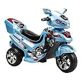 Kinder Elektromotorrad, Dreirad C031, 12 W Musik und Licht (Blau)