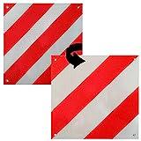 Melko® 2in1 Warntafel Spanien & Italien für Auto, Heckträger, Wohnmobil oder Wohnwagen aus Aluminium, 50 x50 cm, rot-weiß